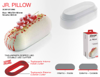 JR. PILLOW Cиликоновая форма 3D без вырубки | Silikomart Tortaflex